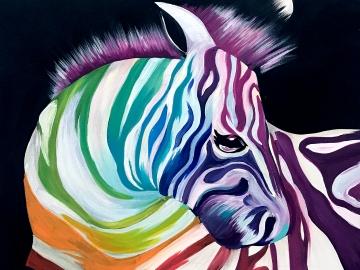 zebra de colores
